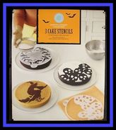 Martha Stewart Halloween Assorted Cake 9 Stencil Designs Nip 5415