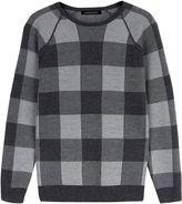 Jaeger Merino Buffalo Check Sweater