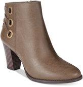 INC International Concepts Women's Jesaa Block-Heel Booties, Only at Macy's