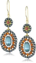 Miguel Ases Cat's Eye Small Drop Earrings