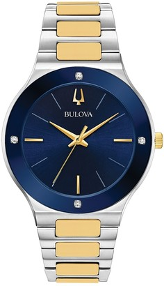 Bulova Men's Millenia Two-Tone Diamond Accent Watch