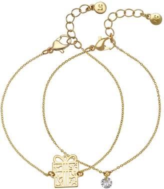 Lauren Conrad Gift Box Pendant Bracelet Set