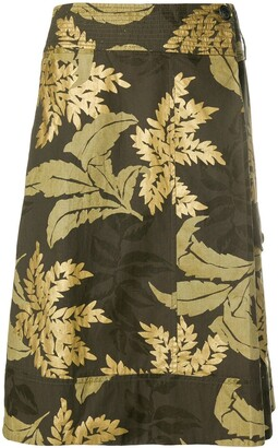 Dries Van Noten Pre-Owned Floral Print Skirt