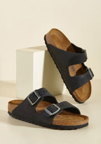 Birkenstock Strappy Camper Sandal in Black - Narrow in 36