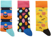 Happy Socks Combed cotton-blend pack of three socks