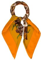 Hermes Gibiers Silk Scarf