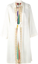 Etro tie coat - women - Silk - 40