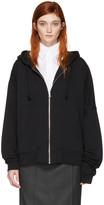 MM6 MAISON MARGIELA Black Asymmetric Zip Hoodie