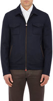 Kiton Men's Cashmere Zip-Front Jacket-NAVY