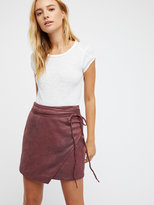 Free People Walk On By Vegan Mini Skirt