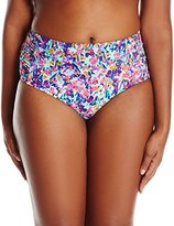 Kenneth Cole Reaction Women's Plus-Size Don't Mesh with Me High-Waist Bikini Bottom