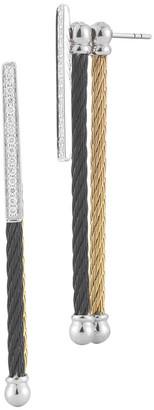 Alor Noir 18K & Stainless Steel 0.15 Ct. Tw. Diamond Earrings