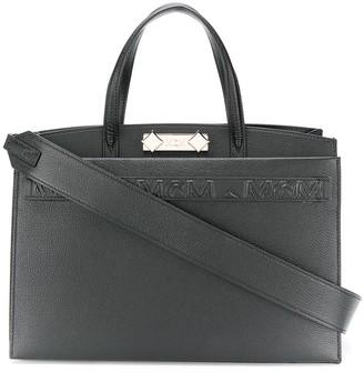 MCM Repeat Logo Tote Bag