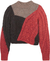 Etoile Isabel Marant Daryl Color-block Paneled Knitted Sweater - Red