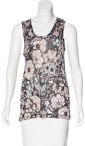 Christopher Kane Floral Print Sleeveless Top
