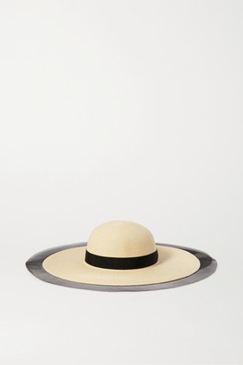 Eugenia Kim Grosgrain And Tulle-trimmed Straw Sunhat - Beige