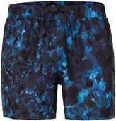 Topman Blue Camouflage Swim Shorts