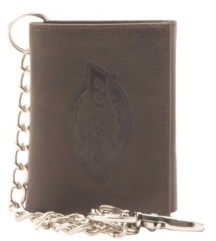 Dickies Security Leather Trifold Men's Wallet with Chain
