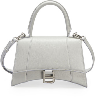 Balenciaga Hourglass Small Calfskin Top-Handle Bag