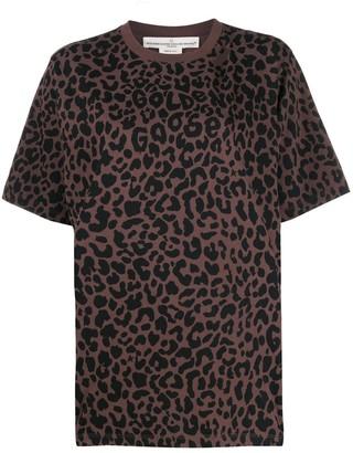 Golden Goose ripped leopard-print T-shirt