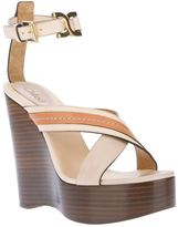 Chloé stacked wedge sandal