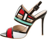 Aperlaï Leather Colorblock Sandals w/ Tags