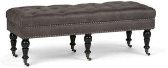 Pesce Tufted Cocktail Upholstered Bench Alcott Hill Color: Distressed Slate Grey