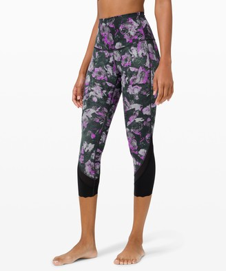 Lululemon Wunder Under Crop High-Rise *Roll Down Scallop Luxtreme 23""