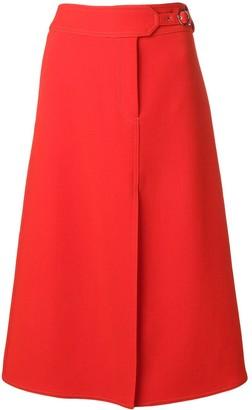 Emilio Pucci front-slit A-line skirt