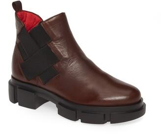 Pas De Rouge Velar Woven Detail Boot