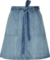 Current/Elliott The Wrap stretch-denim skirt