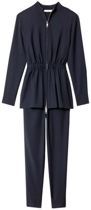 Tibi Double-Layer Plain-Weave Jumpsuit