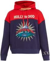 Gucci Hooded spaceship-appliqué cotton sweatshirt