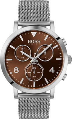 BOSS Spirit Chronograph Mesh Strap Watch, 41mm