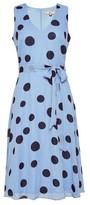 Dorothy Perkins Womens Billie & Blossom Petite Blue Spot Print Midi Dress