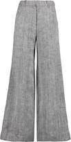 Zimmermann Master herringbone linen and silk-blend wide-leg pants