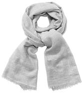 John Lewis Metallic Wool Wrap , Grey