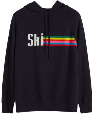 Chinti and Parker Ski Stripe Cashmere Hoodie