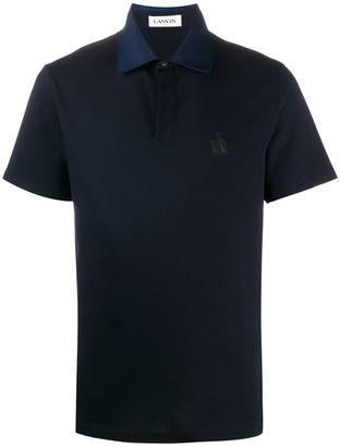 Lanvin Sailboat-Embroidered Polo Shirt