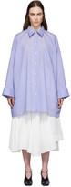 Acne Studios Blue Oversized Shirt Dress