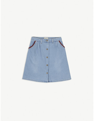 Gucci Web-print denim mini skirt 4-12 years