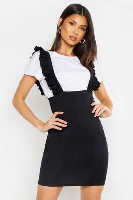 boohoo Ruffle Strap Pinafore Dress