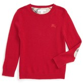 Burberry Boy's Cashmere Crewneck Sweater