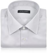 Forzieri Silver Gray Pure Silk Dress Shirt