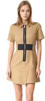 Alexander Wang Short Sleeve Safari Dress with Lacing
