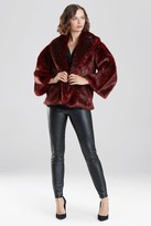 Natori Leopard Faux Fur Jacket