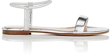 Gianvito Rossi Women's Metallic Leather Ankle-Strap Sandals - Silver