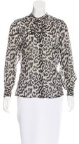 Sea Sheer Leopard Print Blouse
