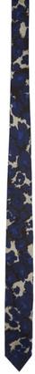 Dries Van Noten Navy Graphic Silk Tie