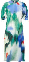 Lemaire Printed Silk Dress - Green